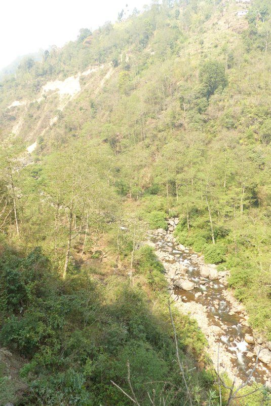 A view of the Srikhola River from above as we hiked out