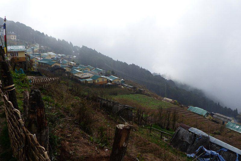 Dhotrey village, starting point for trek to Sandakphu in Himalayas