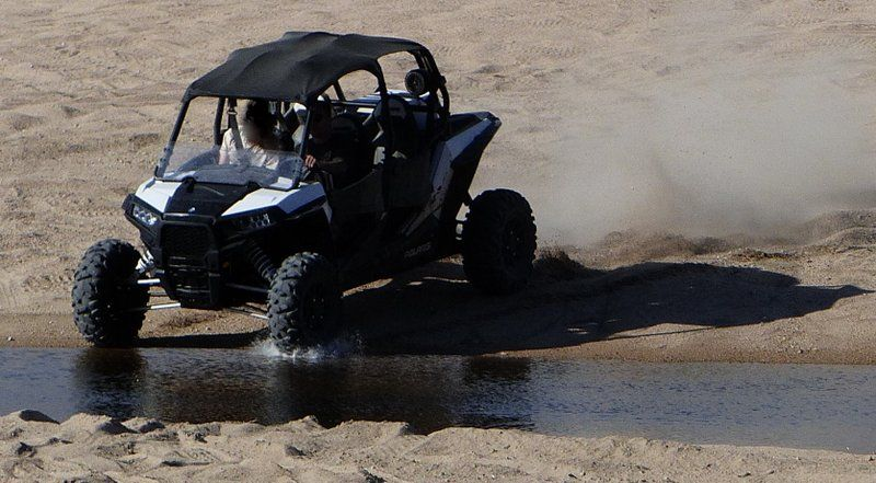 four-wheeler atv joyriders in arroyo toad habitat
