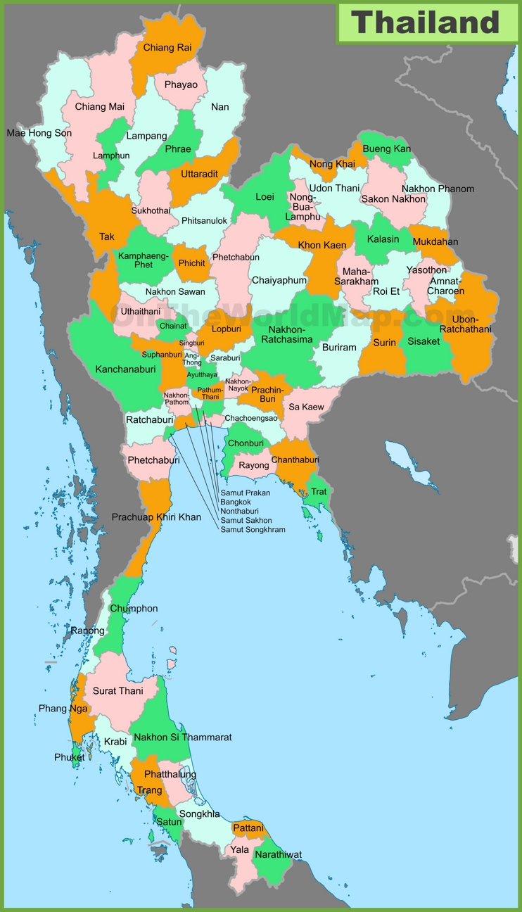 map of thailand provinces herping regions of thailand herps